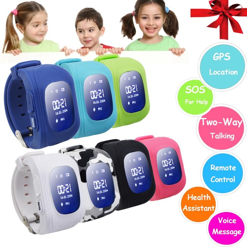 Q50 Intelligent Montre-Bracelet Enfants Sûr GPS Montre Intelligente SOS Call Lieu Finder Locator Tracker Bébé Anti Perdu Moniteur PK Q90 # C0