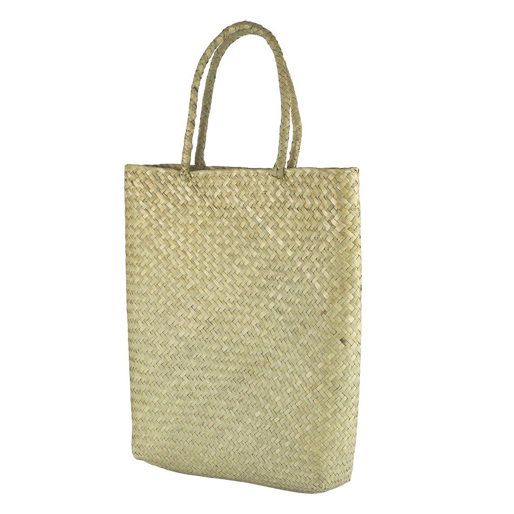Shoulder Bag Women's Fashion Embroidery Cane Grass Woven Beach Bag