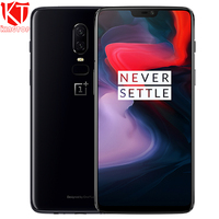 Original Oneplus 6 Mobile Phone 8GB 128GB Snadragon 845 Octa Core 6.28'' Dual Camera Face Unlock 4G 20+16MP NFC Waterproof Phone