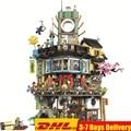 2018 Ninjagoed Pier храм Phantom штаб-квартиры мастеров строительные блоки наборы кирпичи дети совместимые Legoings ниндзя Movie2