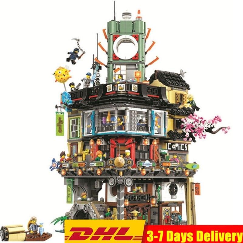 2018 Ninjagoed Pier Temple Phantom quartier général maîtres blocs de construction ensembles briques enfants compatibles Legoings Ninja Movie2