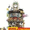 2018 Ninjagoed Pier Temple Phantom sede maestros bloques de construcción juegos de ladrillos niños compatibles Legoings Ninja Movie2