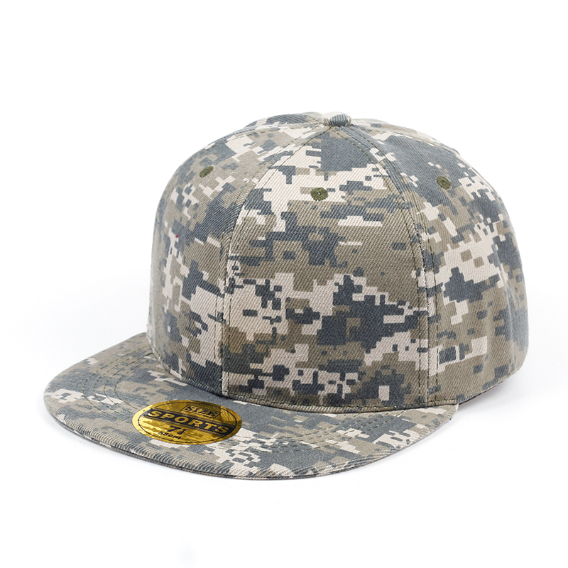 Camouflage snapback polyester cap blank flat camo baseball cap with no embroidery mens cap and hat for men and women fashion rivets cotton polyester fiber men s flat top hat cap army green