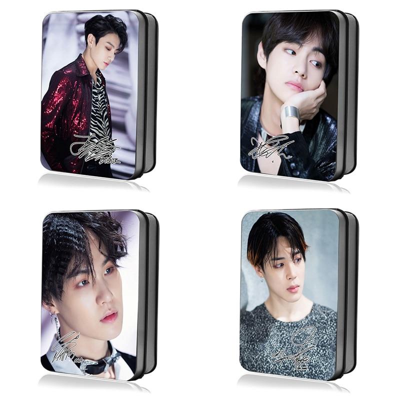 Kpop FAKE LOVE Polaroid Lomo Photo Cards JUNG KOOK V Signature Photocard Poster 30pcs/set поло print bar jung kook 97