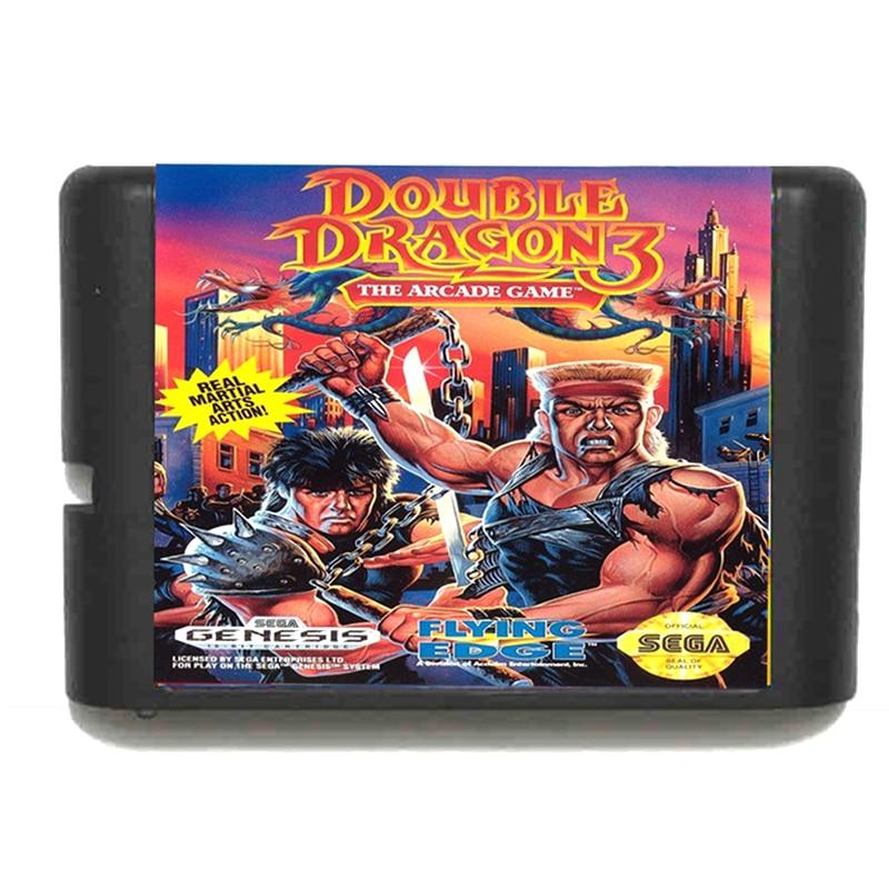 Double Dragon III 16 bit Sega MD Game Card for Mega Drive for Genesis EU/JP Shell