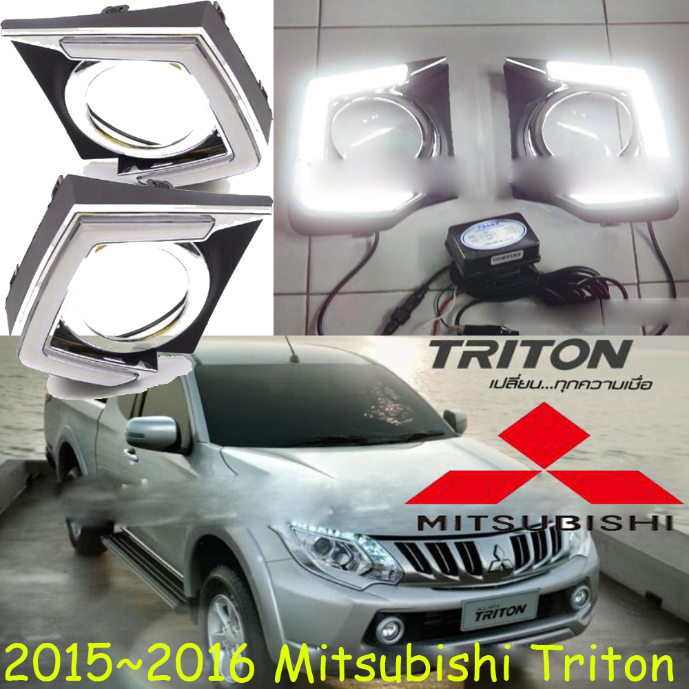car-styling,Triton daytime light,2015~2017,LED,Free ship!2pcs/set,Triton fog light;car-covers,Triton headlight,Triton triton эрика