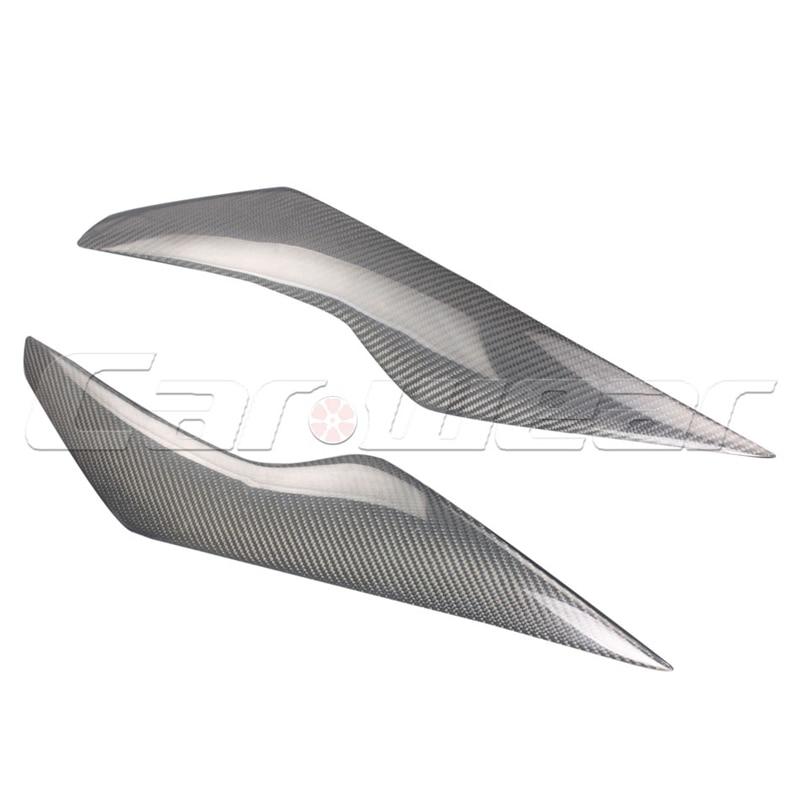 Углеродного волокна фары брови Крышка обрезать наклейка для Focuns Форд 2009-2011