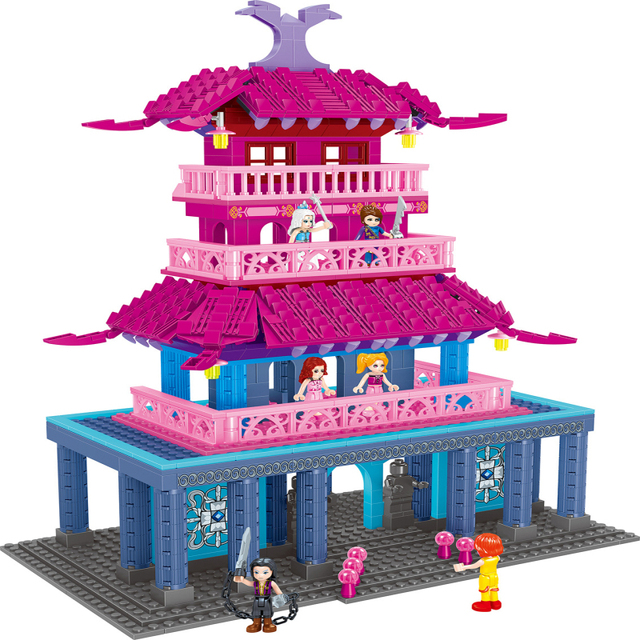 Fairyland Palace Princess Girl Building Blocks 1118pcs Bricks Toys For Children Compatible LegoIN figures knight warrior demons