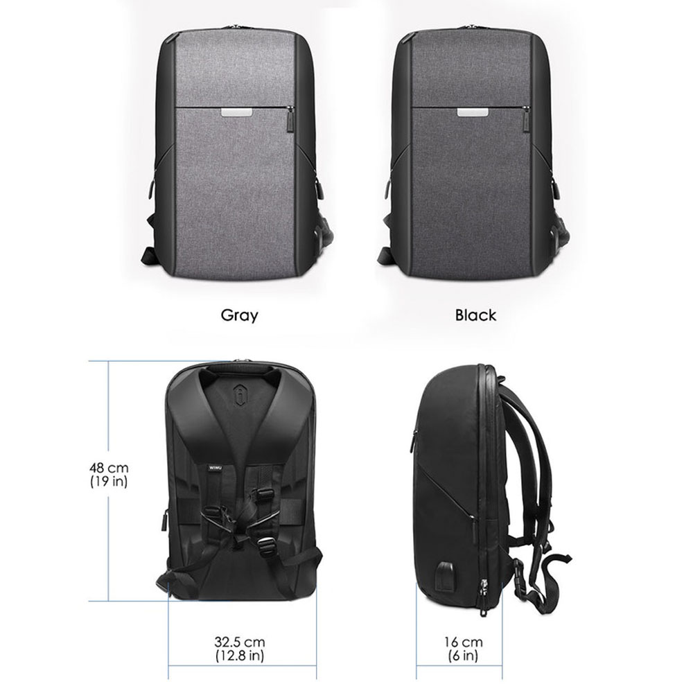 Image 5 - WIWU Laptop Backpack 15.6 15.4 inch Multi function USB Charging Causal Waterproof Backpacks Large Capacity Laptop Backpack Women-in Laptop Bags & Cases from Computer & Office