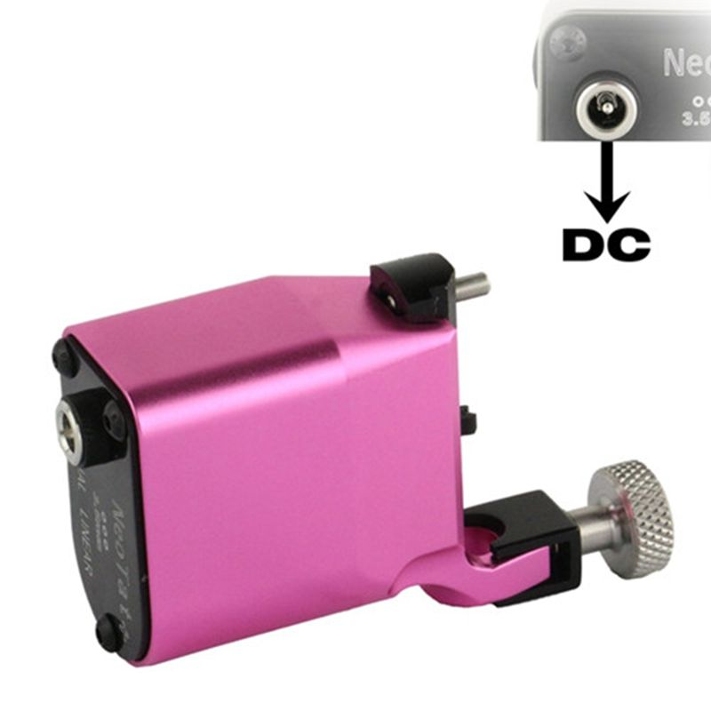 Newest Tattoo Machine NeoTat Rotary Tattoo Machine Best Quality Pink Color Permanent Tattoo Gun For Tattoo Artist Free Shipping permanent makeup rotary tattoo machine tattoo gun for learner use