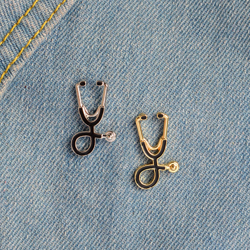 Badges 1 Pcs Vintage Novelty Echometer Metal Brooch Button Pins Denim Jacket Pin Jewelry Decoration Badge For Clothes Lapel Pins Arts,crafts & Sewing