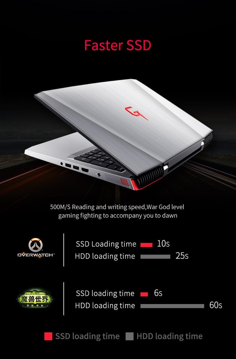 HTB1UfumXr3XS1JjSZFFq6AvupXa6 BBen G16 15.6'' Laptop Windows 10 Intel i7 7700HQ GTX1060 16GB RAM 256GB SSD 1T HDD Metal Case Backlit Keyboard IPS WiFi BT4.0
