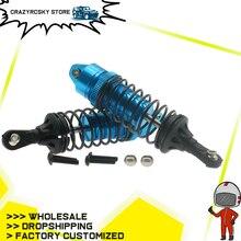 2Pcs Alloy Front Shock Absorber Damper Oil Filled Type For Rc Hobby Model Car 1/