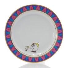 Cartoon Salad Coffee Cake Fruit Ceramic Food Plate Beauty And The Beast Mrs Potts Chip Teapot Cup Creative Dinnerware Xmas Gifts