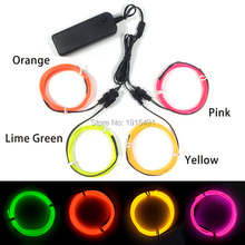 Popular Multi-color 4Pieces 2.3mm Led Strip Light Up Cable Rope EL Wire Set Neon Television Backlight Car Party Interior Decor
