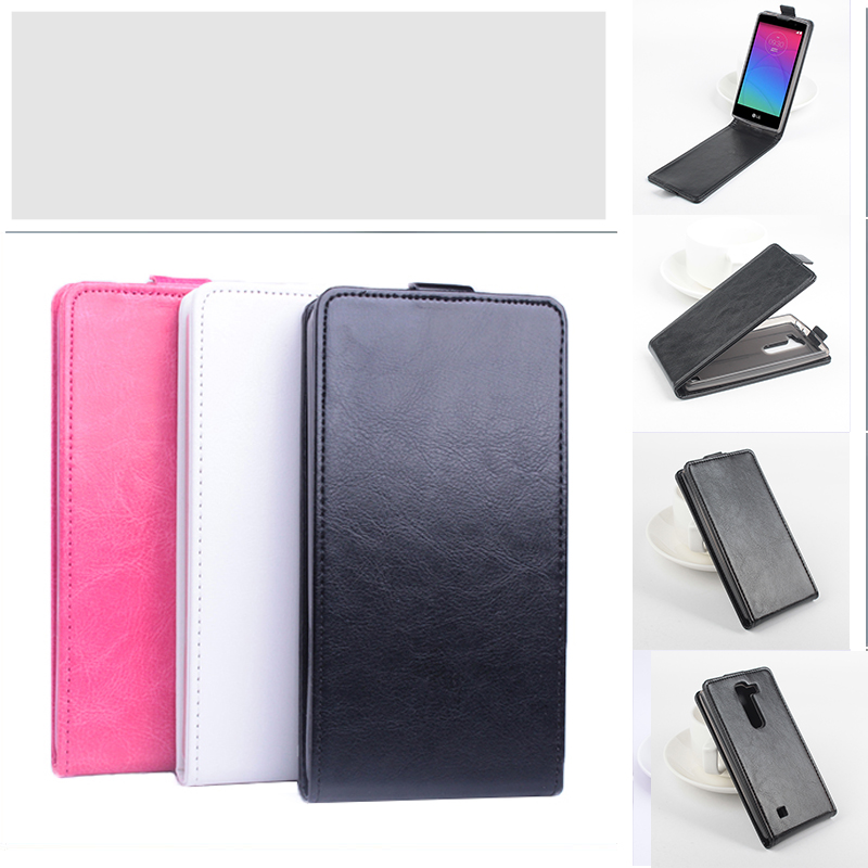 Mode 9 färger läderfodral till LG Magna H502F H500F C90 Flip Cover Fodral till LG G4C H525N Vertikal bakomslag till LG G4 Mini