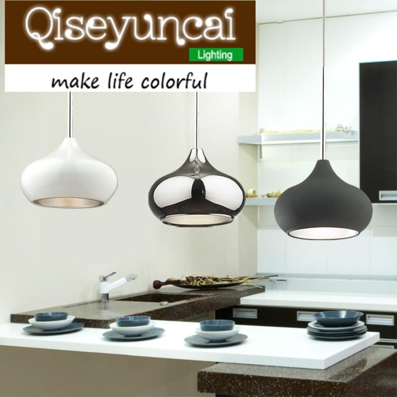 American Style Restaurant Pendant Lamp Modern Kitchen LED Pendant Light Chrome Iron Plated 110-240V Dinning Room Light zg9046 pendant light ac 110 240v