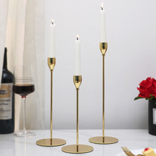 Candle Holders Candlestick Wedding/Dinning Table Decorative Modern Style Gold Metal 3PCS/Set Bar Party Home Decor