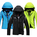 16 de alta qualidade ternos de esqui de inverno ao ar livre para homens e mulheres amantes seção espessamento quente jaqueta de esqui impermeável jaqueta à prova de vento