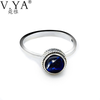 100 Real Pure 925 Sterling Silver Ring Lapis Lazuli Ring For Women Wholesale Free Shipping Men
