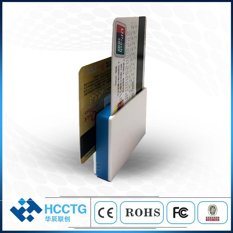 Lecteur de carte mobile IC et magnétique (Track1/2), lecteur/graveur de carte à puce avec conformité EMV L1/L2 MPR100