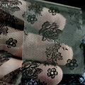 1 рулона 4 * 100 см кружева ногтей фольги черные цветы ногтей передача фольги перевода наклейки бумажные украшения а37