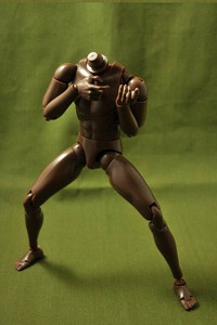 """Image 1 - חדש 1/6 זכר צר כתף עירום גוף דמות שחור Ver. B003 12 """"פעולה איור בובת צעצועי חייל דגם"""