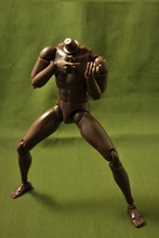 """Yeni 1/6 erkek dar omuz çıplak vücut şekil siyah Ver. B003 12 """"Action Figure oyuncak bebekler asker modeli"""