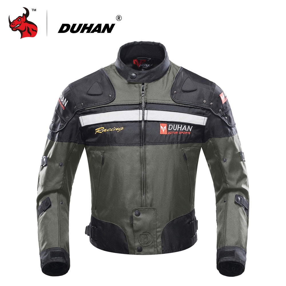DUHAN Motocross Off-Road Racing Jacket Motorcycle Jackets Body Armor Protective Moto Jacket Motorbike Windproof Jaqueta Clothing professional motorcycle jacket men s motocross off road racing jacket body armor riding motorcycle pants clothing set black