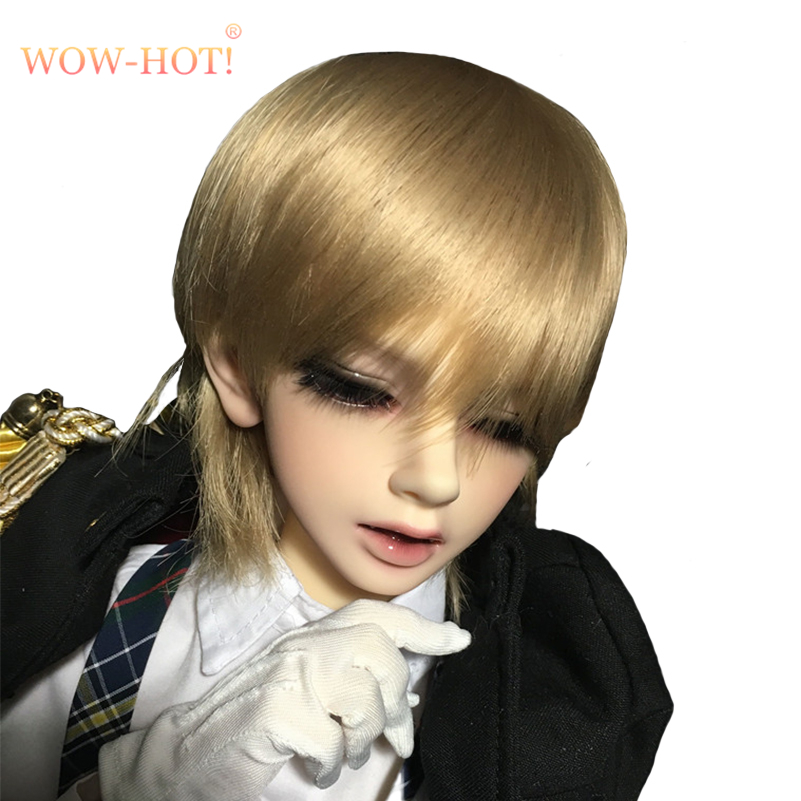 WOWHOT!1/4 BJD Doll Wigs Short Straight Hair Accessories for Dolls,1/4 Format Fashion Dolls Hair Synthetic Fiber Wigs for BJD harajuku anime nicole cosplay wigs young short straight synthetic hair braid wigsbob style sexy wigs double ponytail hairpiece