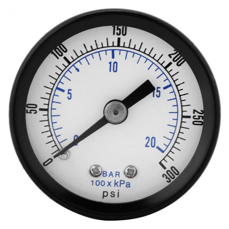 Pressure Gauges Impartial Mini Pressure Gauge For Fuel Air Oil Liquid Water 0-20bar 0-300psi 1/8