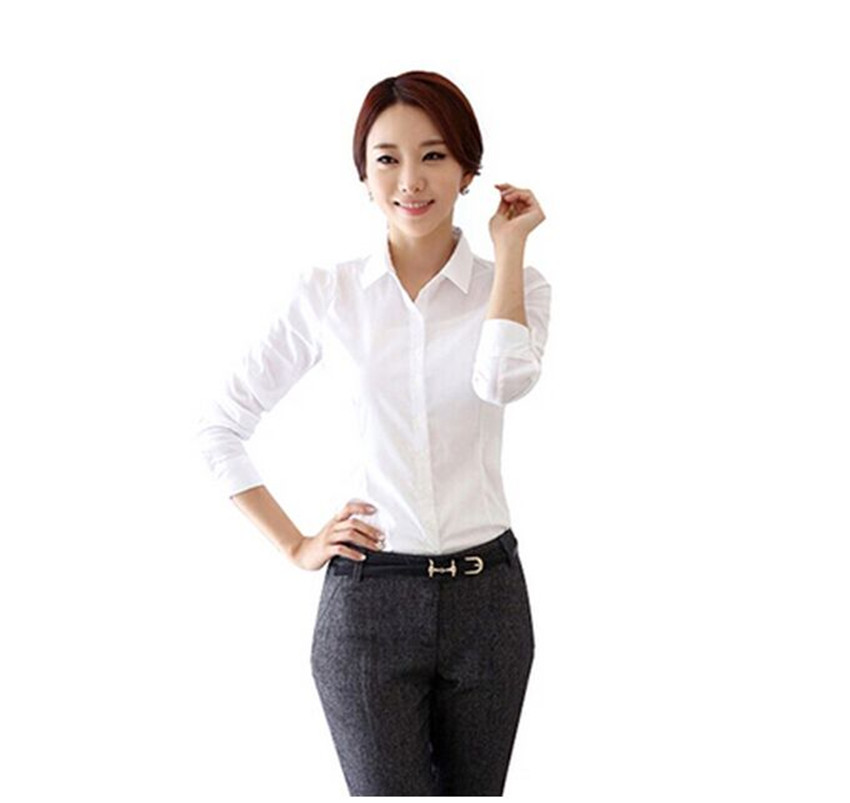 Popular Womens White Long Sleeve Dress Shirt-Buy Cheap Womens ...