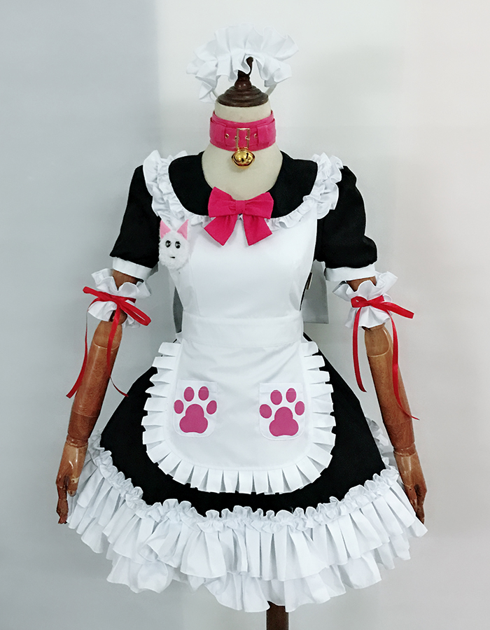 Fate Grand Order Tamamo no Mae maid outfit Cosplay costume Custom any size