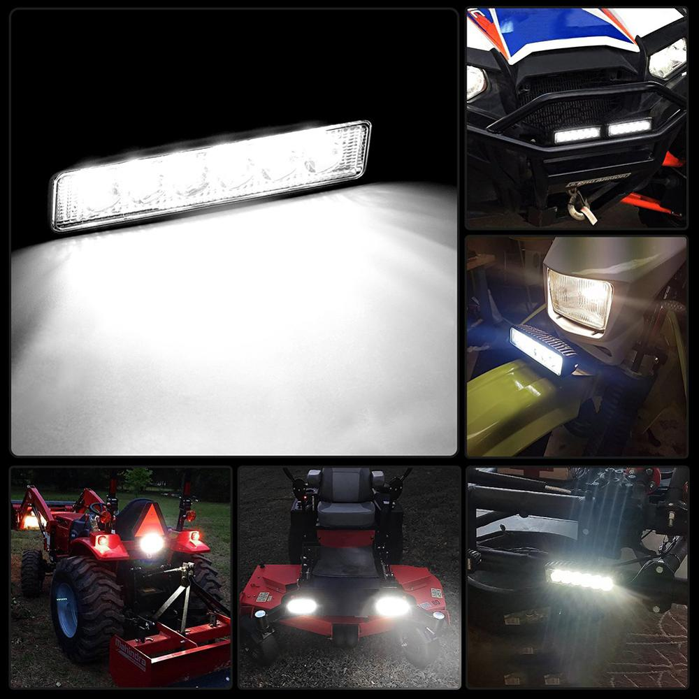 18W 6LED Led Bar Spotlight Car Light Motorcycle Car Accessories Off Road Headlights For Cars Super Bright Light 6000K Quad Bike