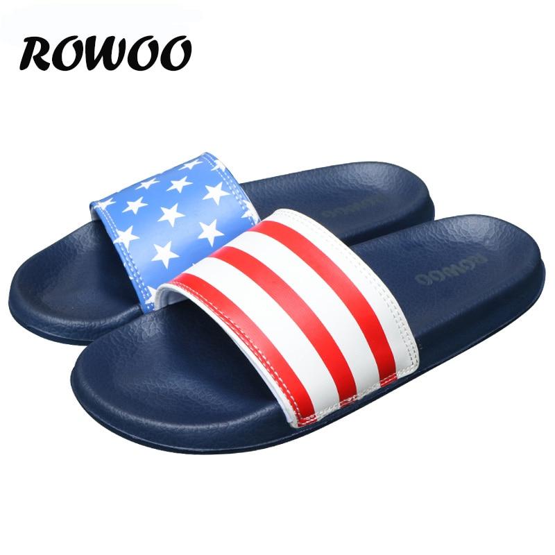 Mens Slides Flat Flip Flop Non-Slip Designer Striped Sandals Home Slippers Man Fashion Slides Casual House Pool  Sandals