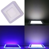 Free shipping 6W 9W 16W 24W Round and Square Surface changeable color Led Panel Light