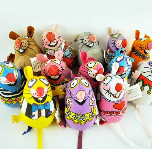 Fatcat Pet Toy Fat Cat Canvas Toy Colorful Mouse Fat Cat Toy With Catmint Catnip Stick Rope Funny 1PC