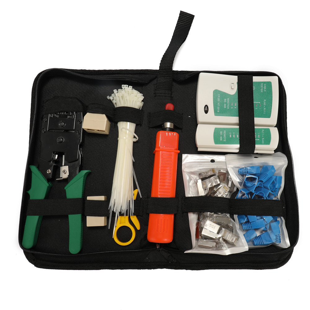 Multi-function Ethernet Network Cable Tester Hardware Bag Tool Portable Lan Tester  Cable Tester Crimping Pliers Network Tools
