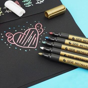 10 Colors Paint Marker Pen for CD Ceramic Glass Plastic Wood Paper,photo Album Paint Marker Metallic Color Painting Pen Supplies [category]