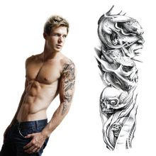 Products For Man Waterproof Temporary Tattoos Body Art Sticker 15×45 Cm Large Fake Arm Tattoo Skull Cool Stuff