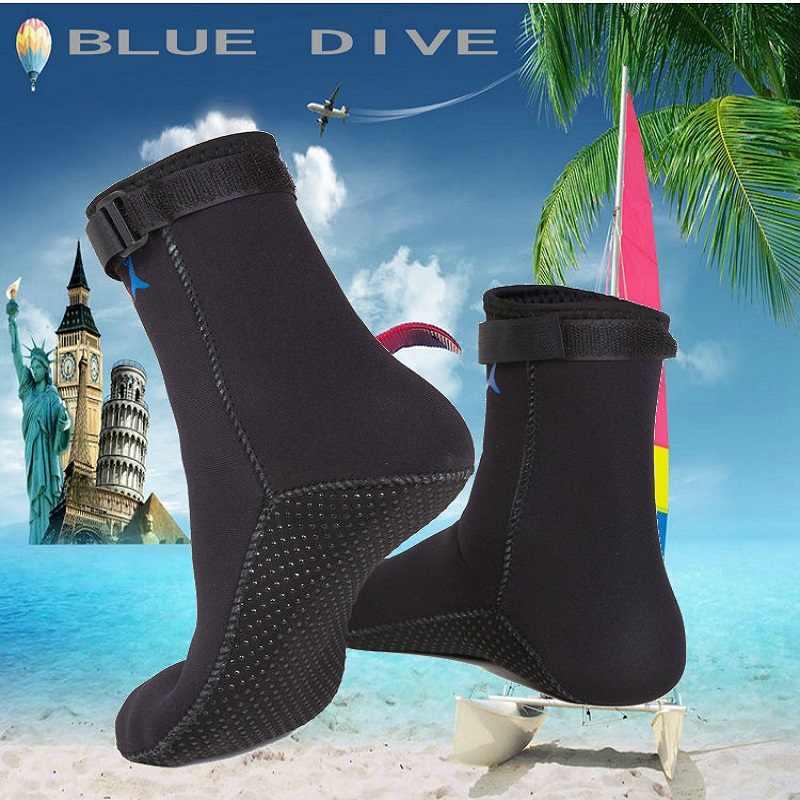 Mannen en vrouwen 3mm Neopreen Duiken Sokken Riem Duiken Snorkelen Laarzen Warme Voorkomen Bekrast antislip zwemmen Schoenen