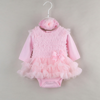 Ruffle Baby Girl Dress For Newborn Clothes Long Sleeve Princess Girls Tutu Dress Infant Evening Party