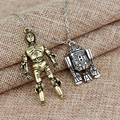 Hot Movie Star Wars R2D2 and C-3PO Robots Star Wars Choker Star Wars Pendant  Cosplay Necklace Great Gift Wholesale Retail