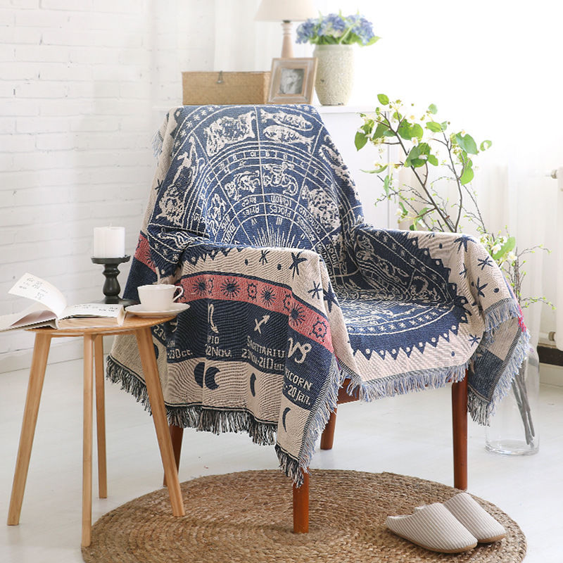 Throw Rug Purpose: Sofa Mat Cover Chair Decor Rugs Aztec Design Cotton