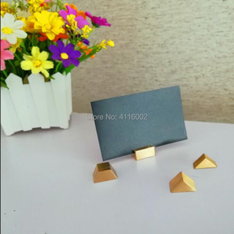 Us 217 12 8 Off Brass Photo Holder Memo Clips Business Card Holder Clamps Stand Desktop Message Party Cofe Shop Table Decoration In Party Diy