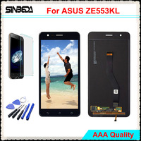Sinbeda AMOLED LCD Screen For Asus Zenfone 3 Zoom ZE553KL LCD Display Touch Screen Digitizer Full