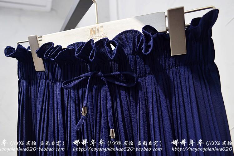2019 Summer High Waist Lace Up Waist Pleated Pants Women Loose Wide Leg Chiffon Pants Lady Lace Up Waist Ankle Length Pants 50