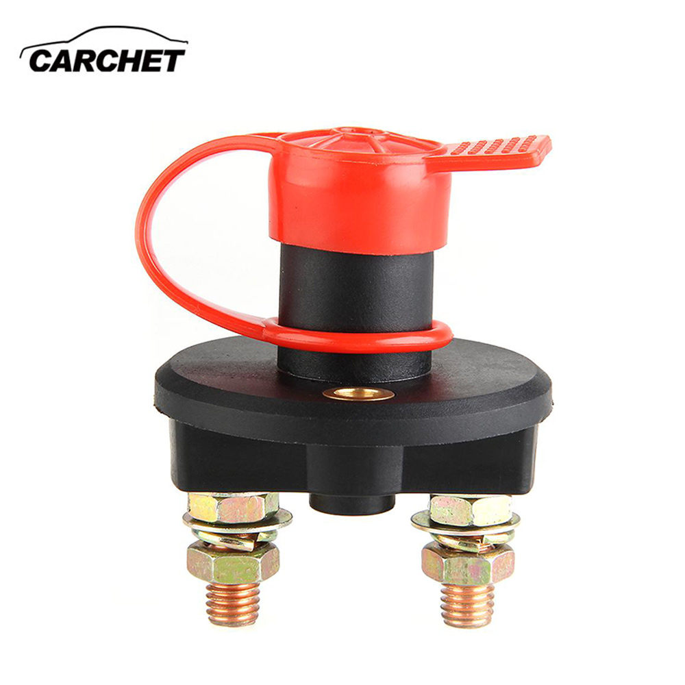 CARCHET Car Switch Battery Isolator Cut Off Power Kill Switch 400A 24V Key with Waterproof Cover Battery Isolator Switch