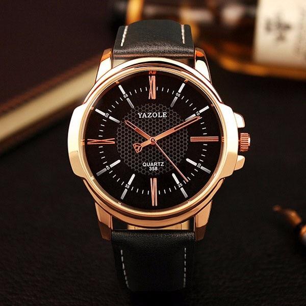 HTB1Ufx9KFXXXXXZXpXXq6xXFXXXz - YAZOLE 2017 Rose Gold Luxury Watch for Men
