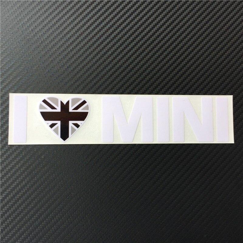 Ես սիրում եմ MINI Car Styling Window Vinyl Car Stickers and - Ավտոմեքենայի արտաքին պարագաներ - Լուսանկար 5